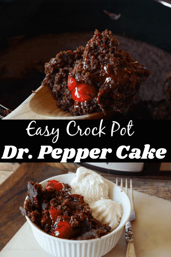 Easy Dr. Pepper Slow Cooker Cake