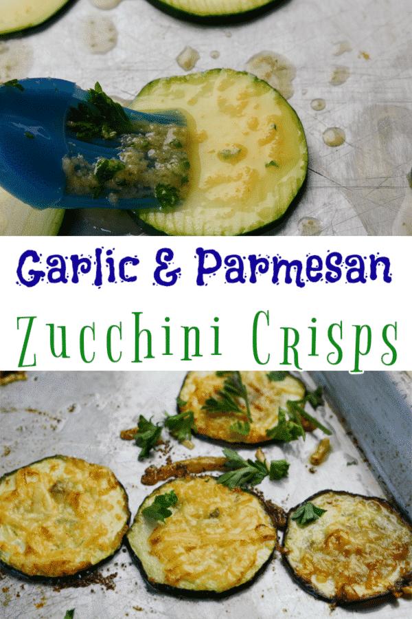 Garlic and Parmesan zucchini crisps