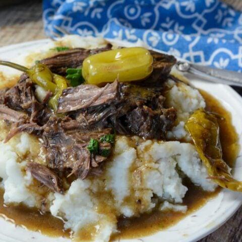 Slow Cooker Mississippi Pot Roast
