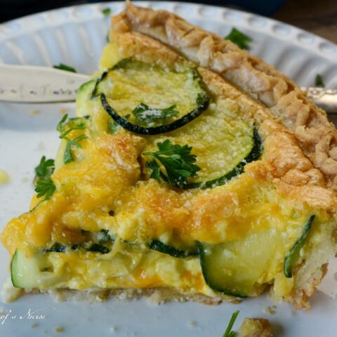 Zucchini Quiche plated