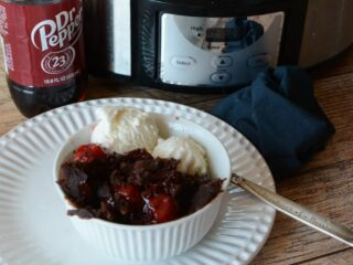 crockpot chocolate cherry cake