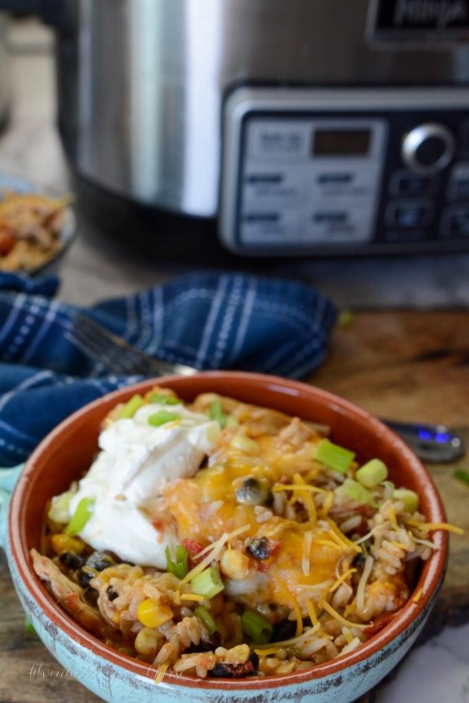 Crockpot Chicken Burrito Bowls