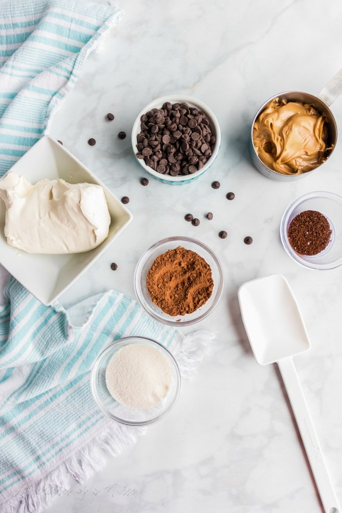 Keto Chocolate Cheesecake Fat Bombs Ingredients