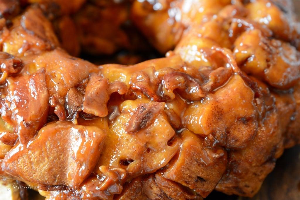 Sweet and Salty Bacon Cinnamon Roll Monkey Bread
