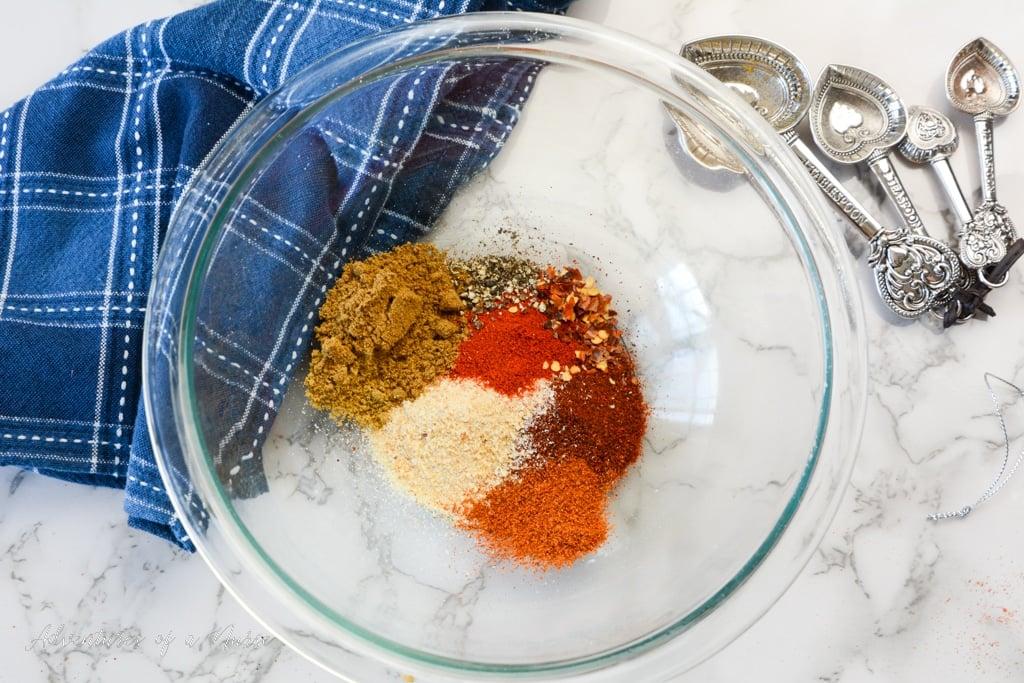 Taco seasonings in a bowl