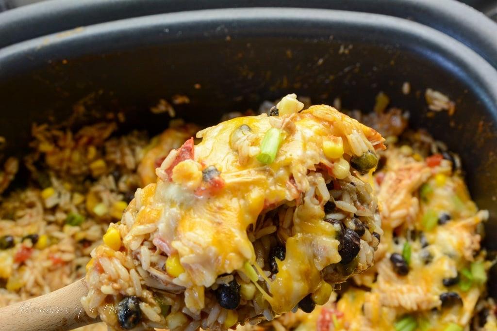 hicken Burrito Bowl in crockpot