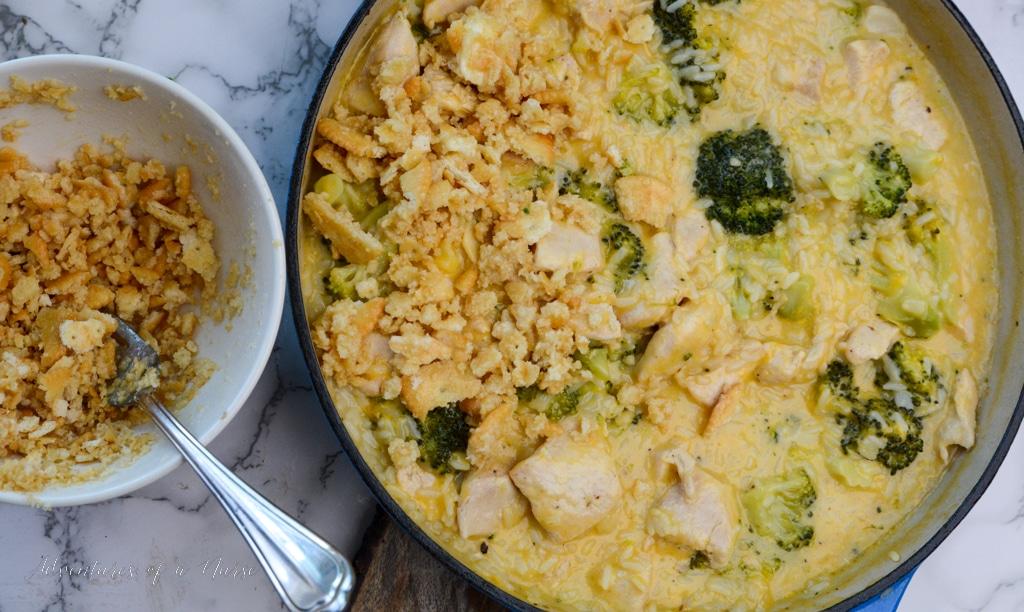 Add Ritz Crackers to chicken casserole
