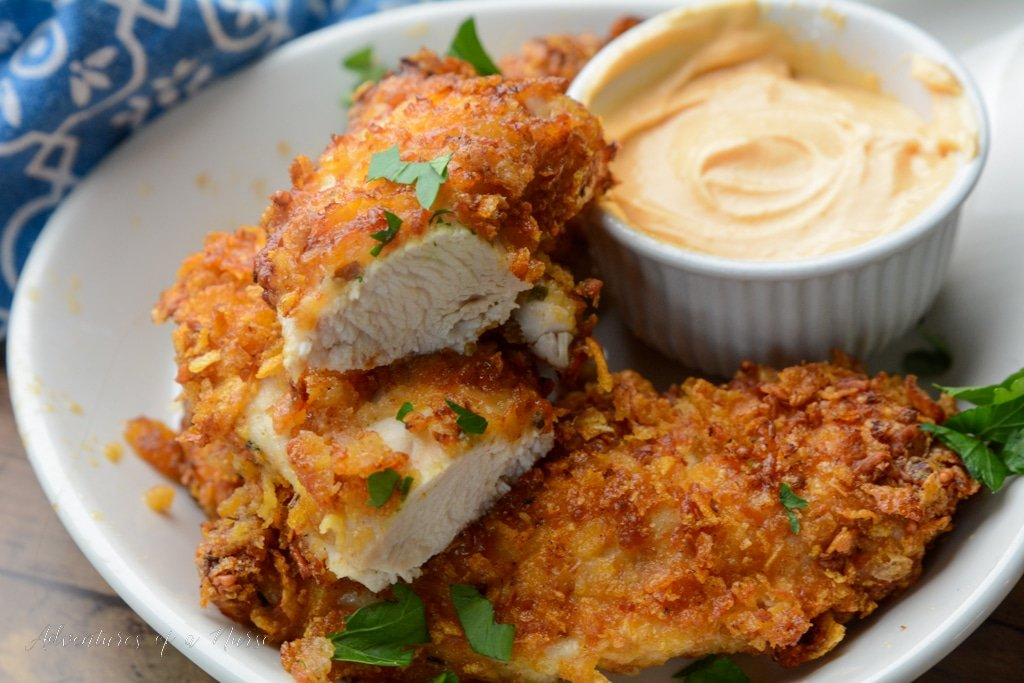 Air Fryer Chicken with Dipping Sauce