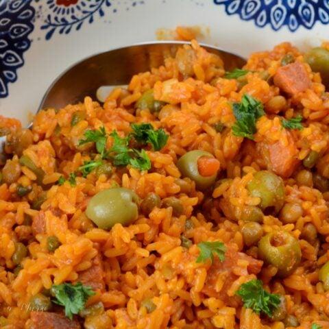 Arroz Con Grandules Puerto Rican Rice Recipe