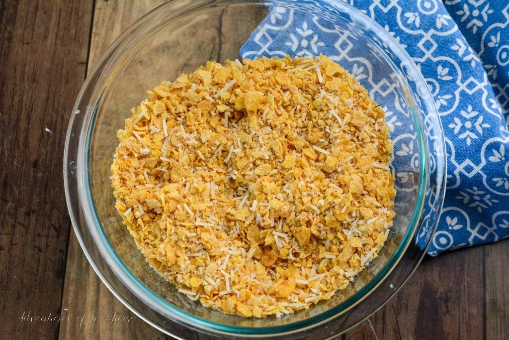 Cornflake mix with seasonings