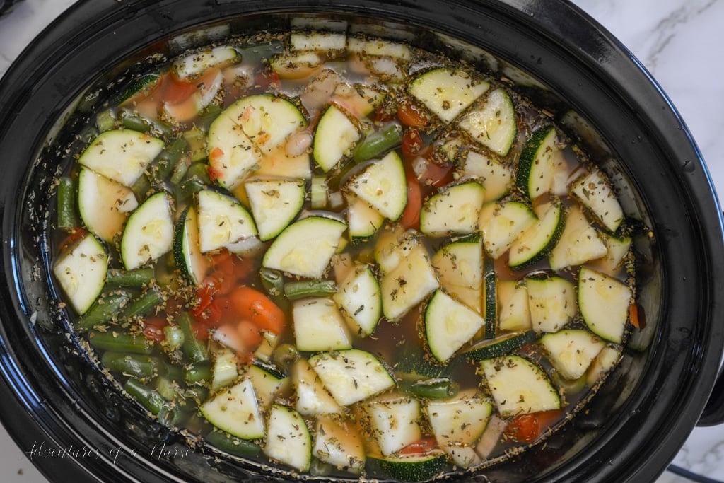 Minestrone Soup in crockpot