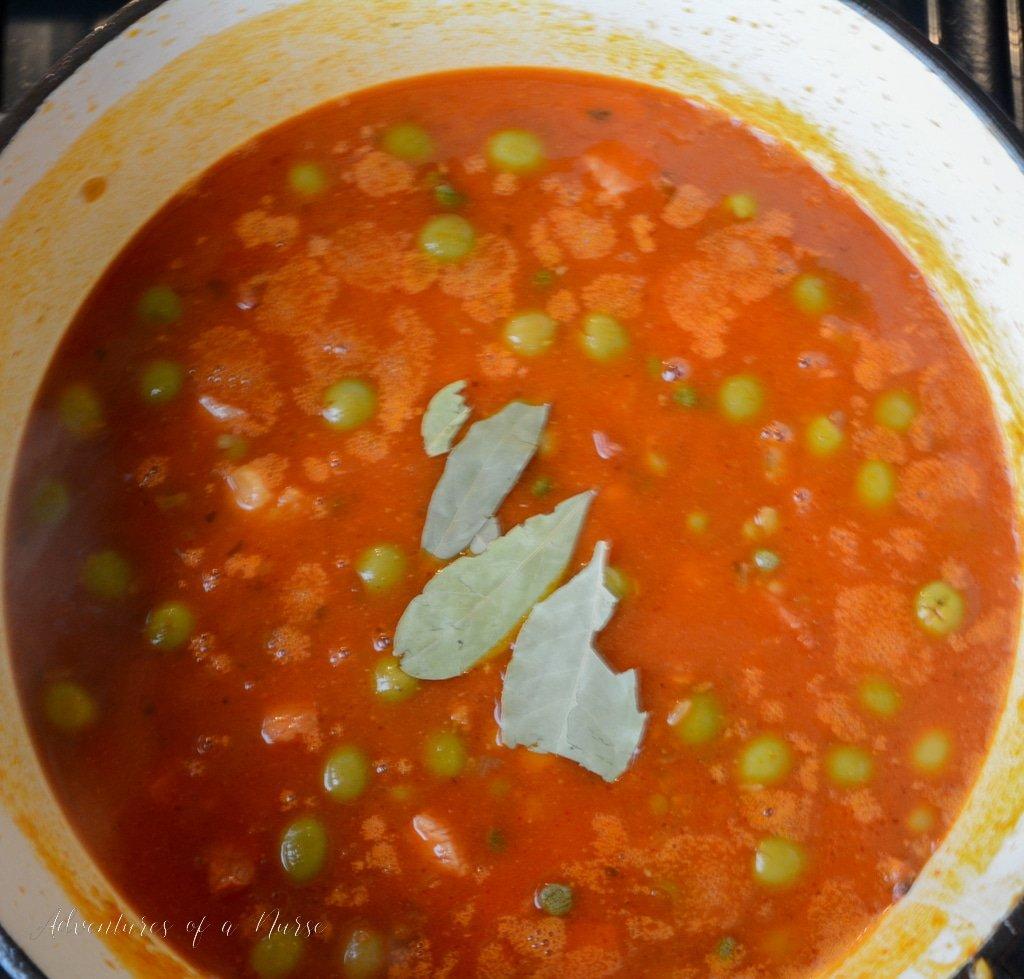 bring to boil and saute arroz con