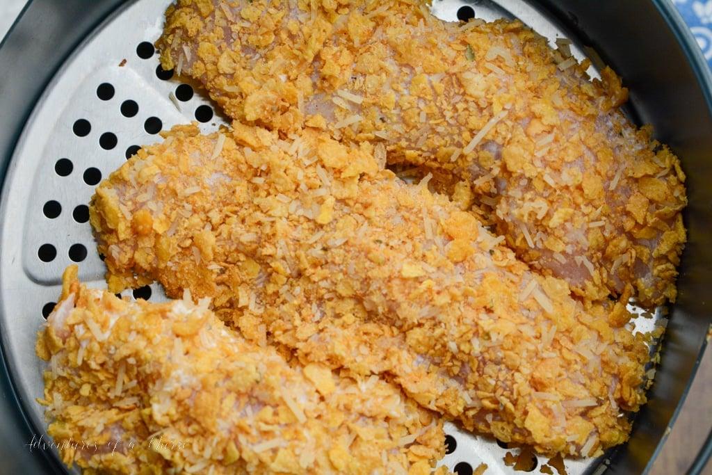 chicken in single layer in air fryer