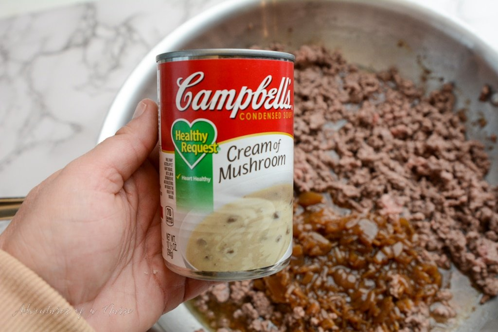 Cream of mushroom soup for French onion casserole