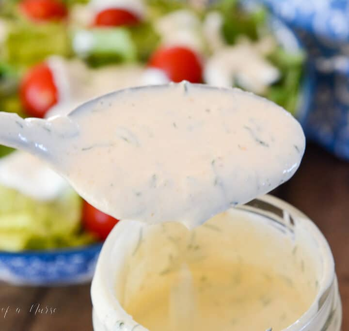 Creamy Ranch Dressing in container
