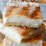 Easy Churro cheesecake bars