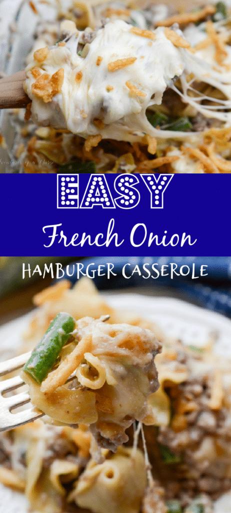 Easy Hamburger French Onion Casserole