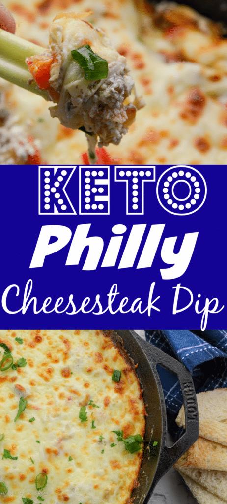 Keto Philly Cheesesteak dip