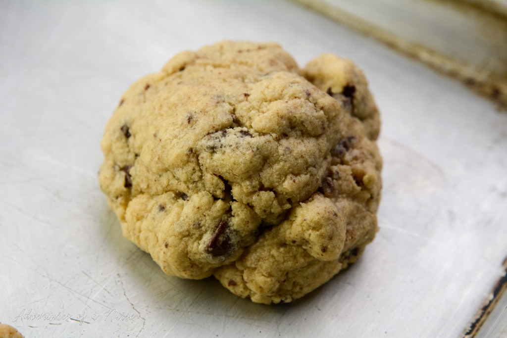 Levain bakery cookies out of oven