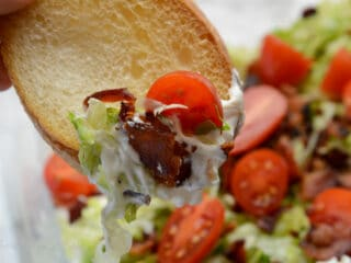 Bread with BLT dip