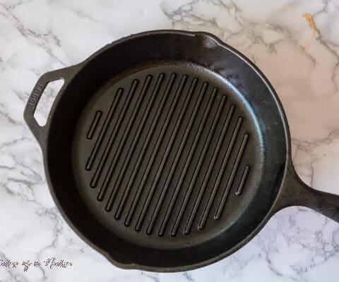 Cast Iron Pan for chipotle Chicken