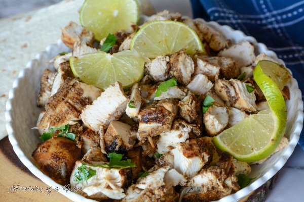 Chipotle Chicken with shells