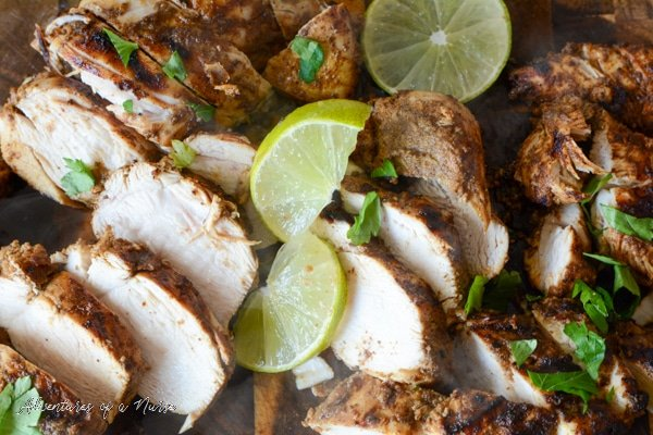 Sliced Chicken with lime