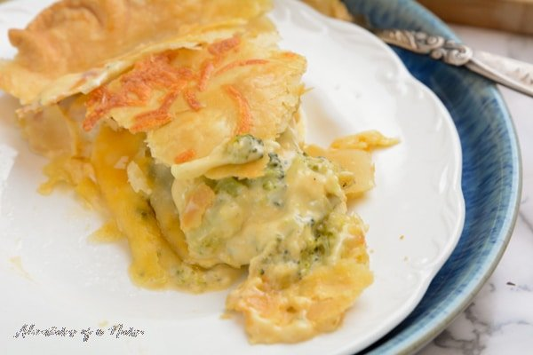 Broccoli and Cheddar Chicken Pot Pie