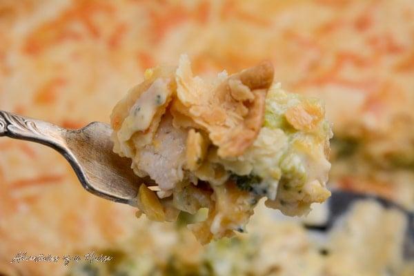 Pot Pie on a fork