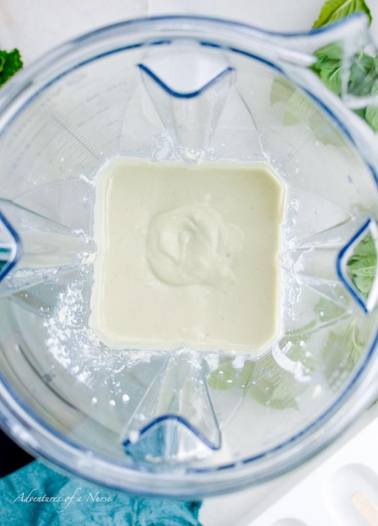 Ice cream in blender