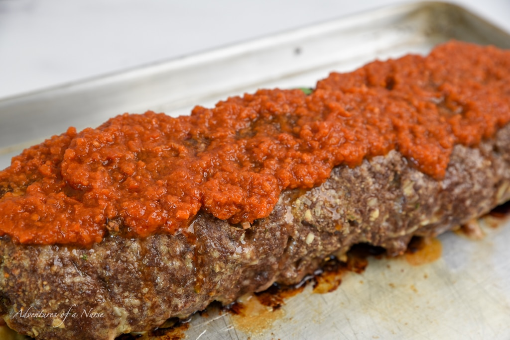 Marinara Sauce on meatloaf