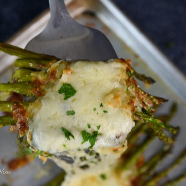 Sheet pan garlic parmesan asparagus