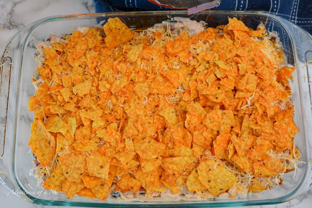 Top with another layer of doritos