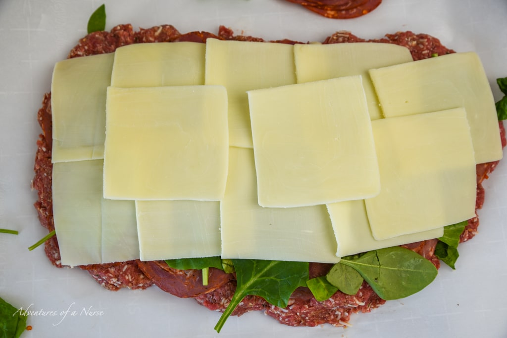layer of mozzarella cheese