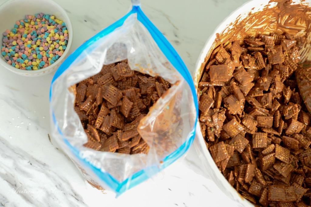 mix in plastic bag