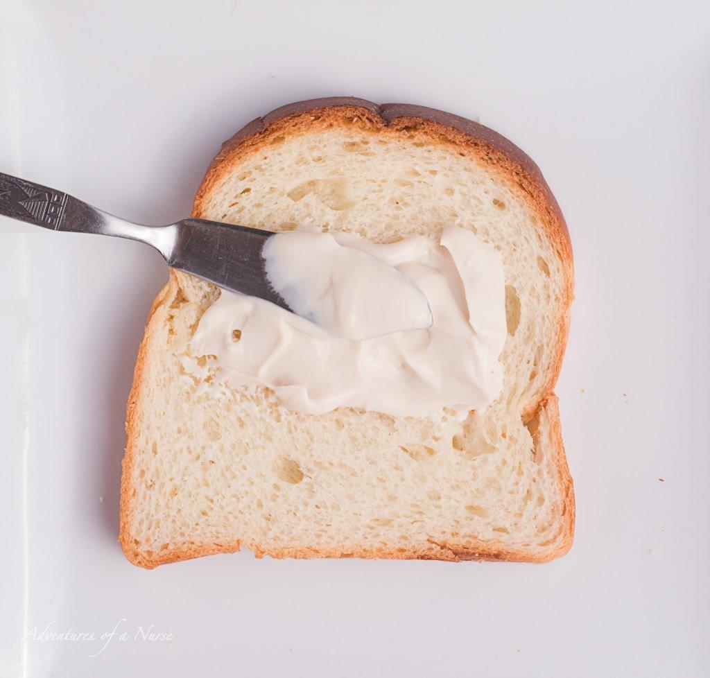 Cream Cheese spread on bread
