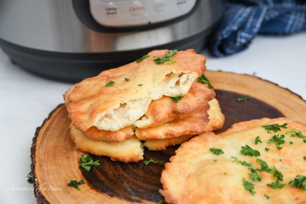 2 ingredient Naan Air Fryer Bread