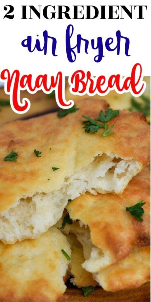 Air Fryer 2 ingredient Naan Bread