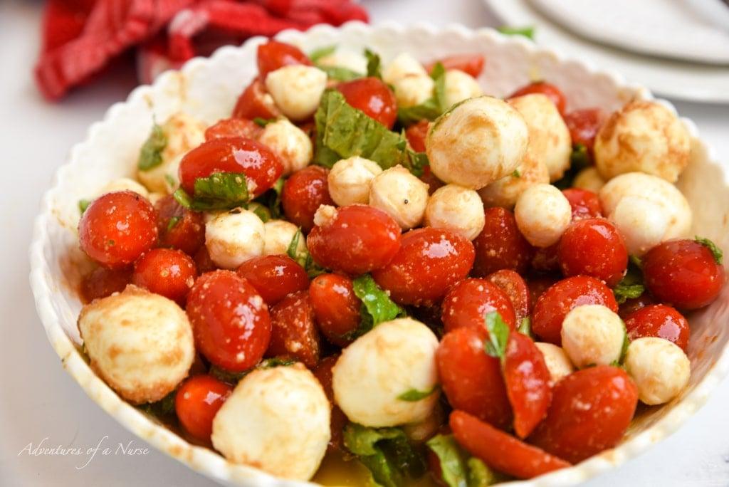 Caprese Salad with dressing