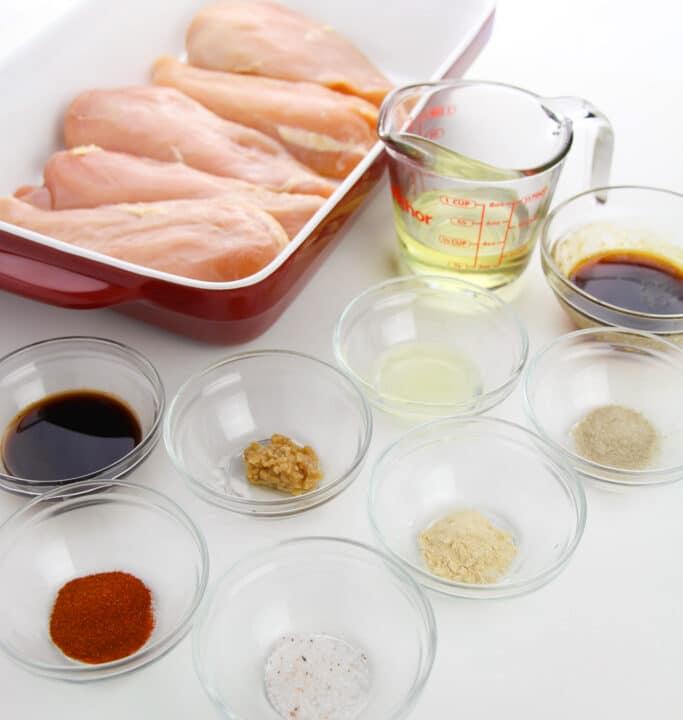 Chicken marinade ingredients