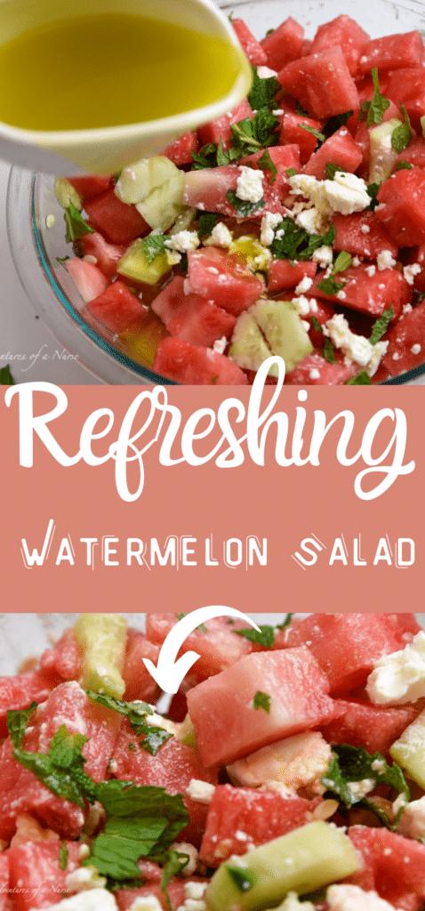Watermelon and Mint Salad