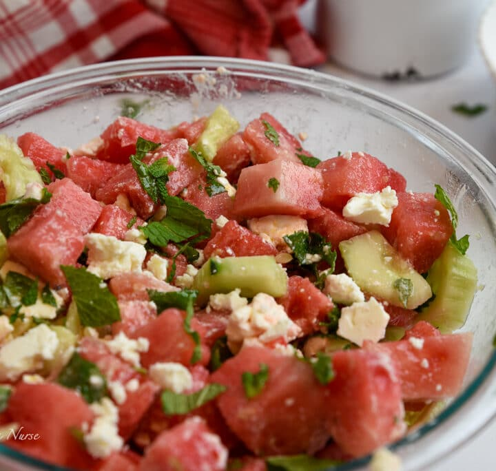 Watermelon and Mint Salad