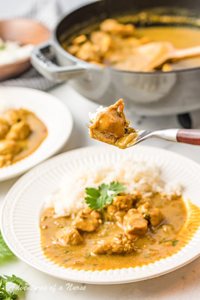 Curry Chicken Over Rice