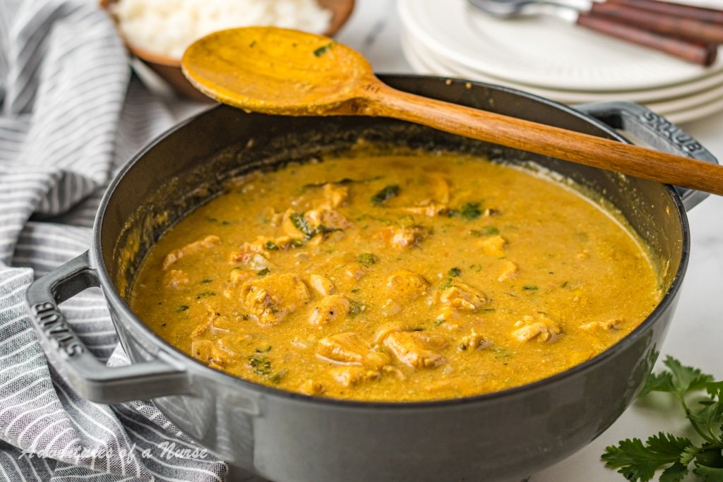 Curry Chicken in Pan