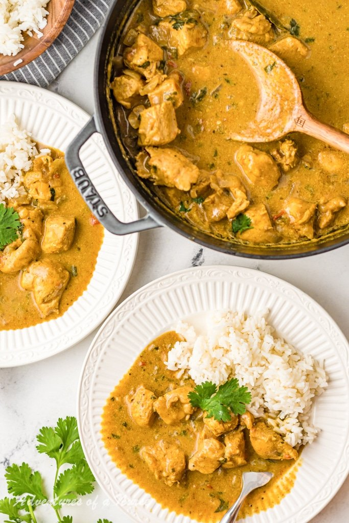 Curry Chicken on plate