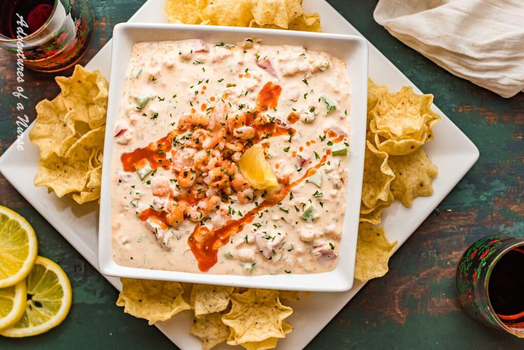 Shrimp Dip in serving dish