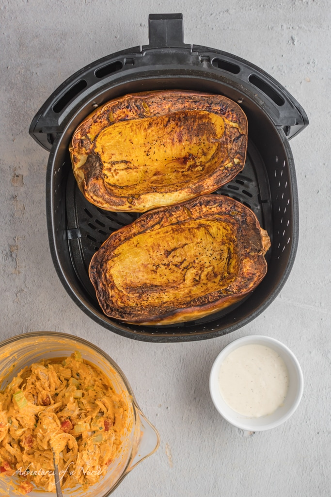Spaghetti Squash Cooked in air fryer