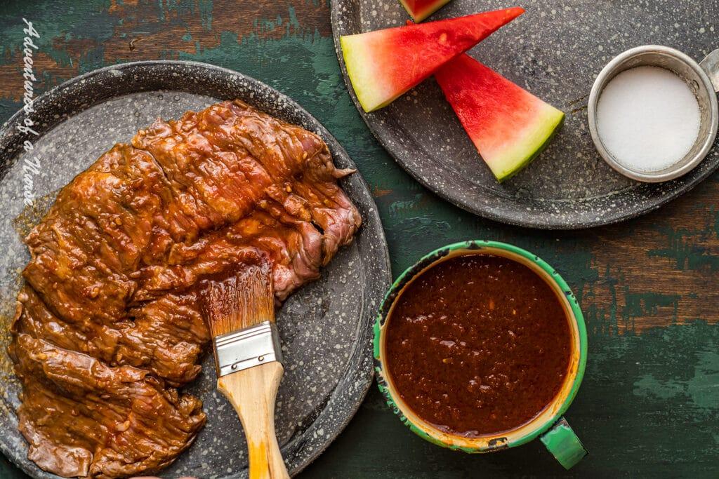 BBQ Sauce Recipe on meat