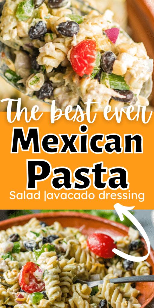 Pasta Salad and Avacado Dressing