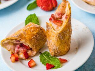 Strawberry Cheesecake Chimichanga